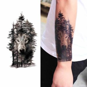 Tatuaż Leśny Wilk BDMLC 574